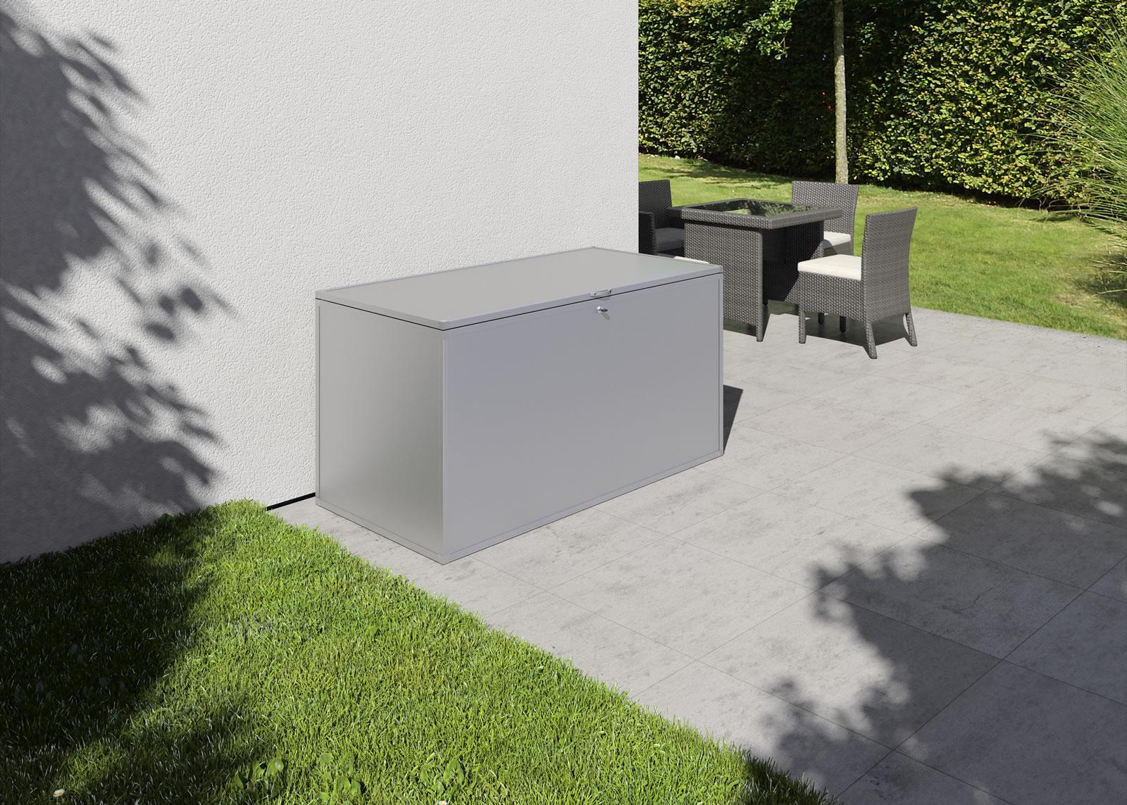 Gartenbox M - silber