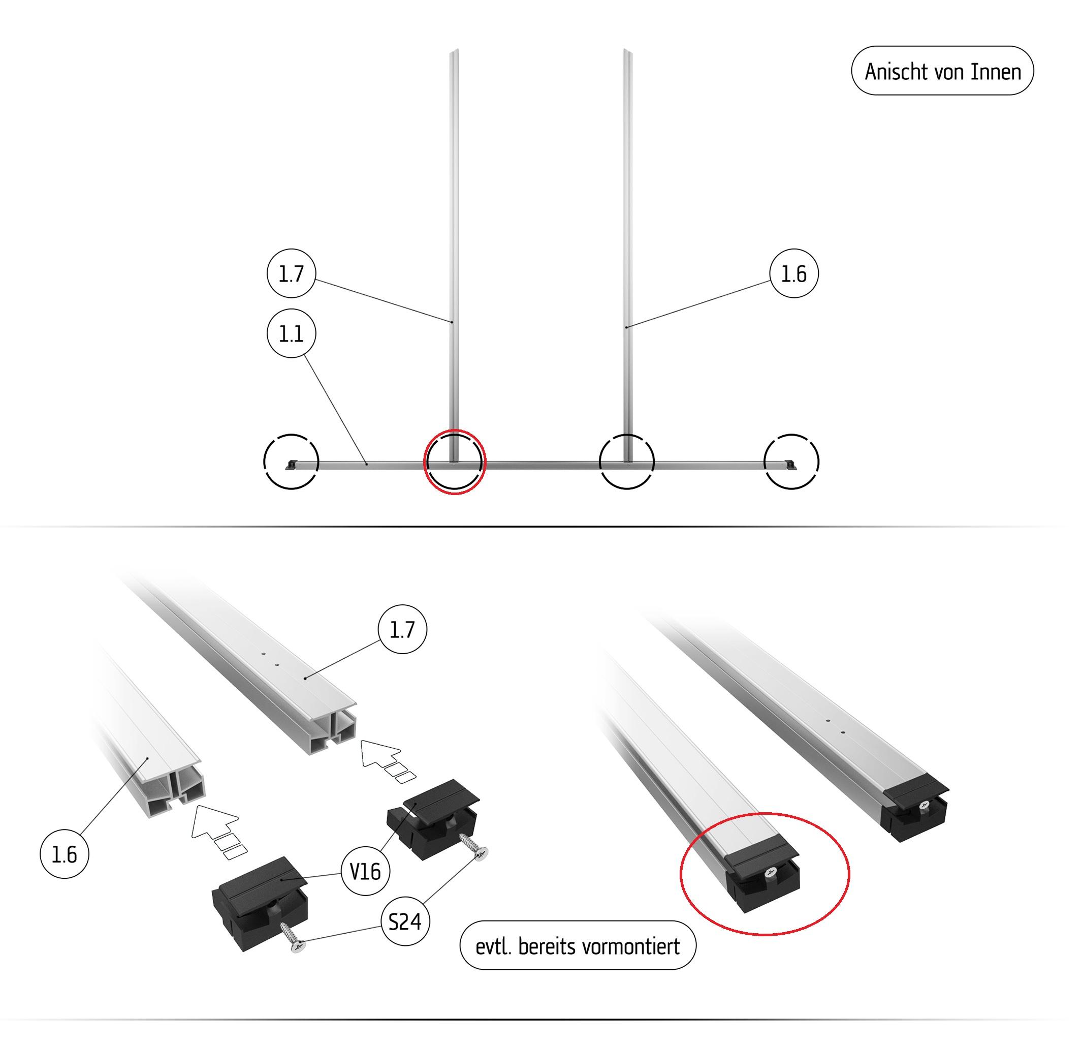 Kunststoff-Gleiter für 6-mm-Modelle