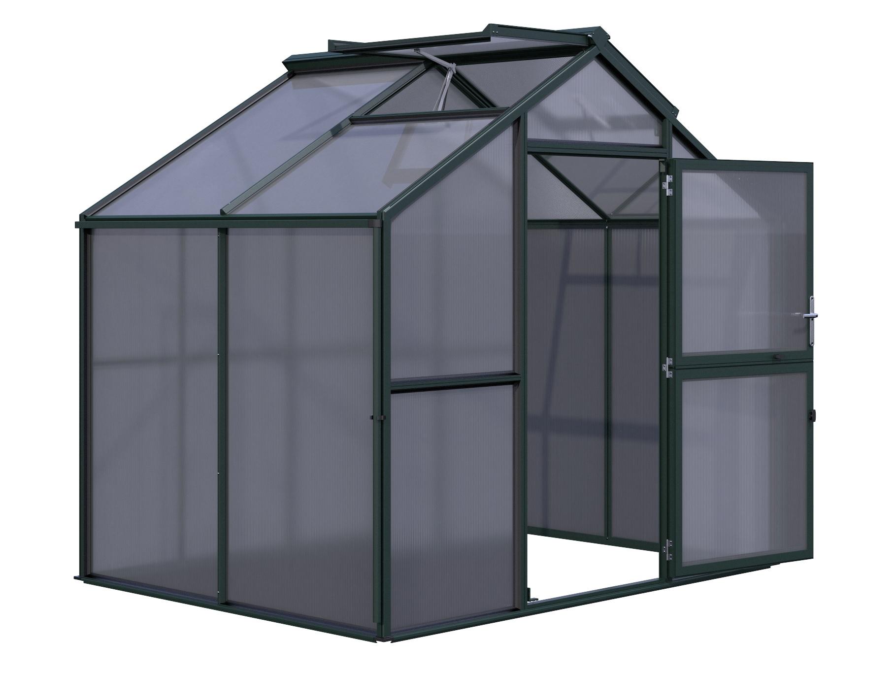 Gewächshaus Novum II (HKP) - tannengrün