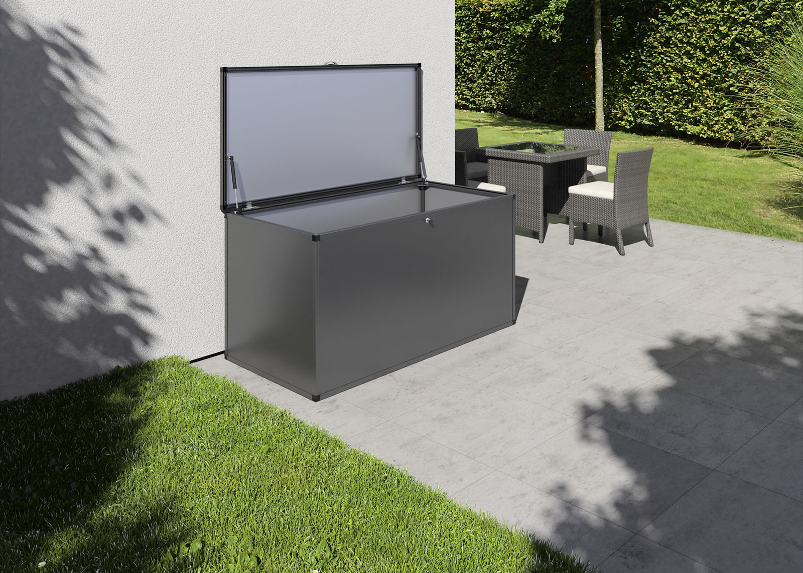 Gartenbox XL - anthrazit-grau