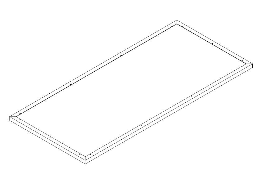 Schneckenkante für Aluminium-Hochbeet 210
