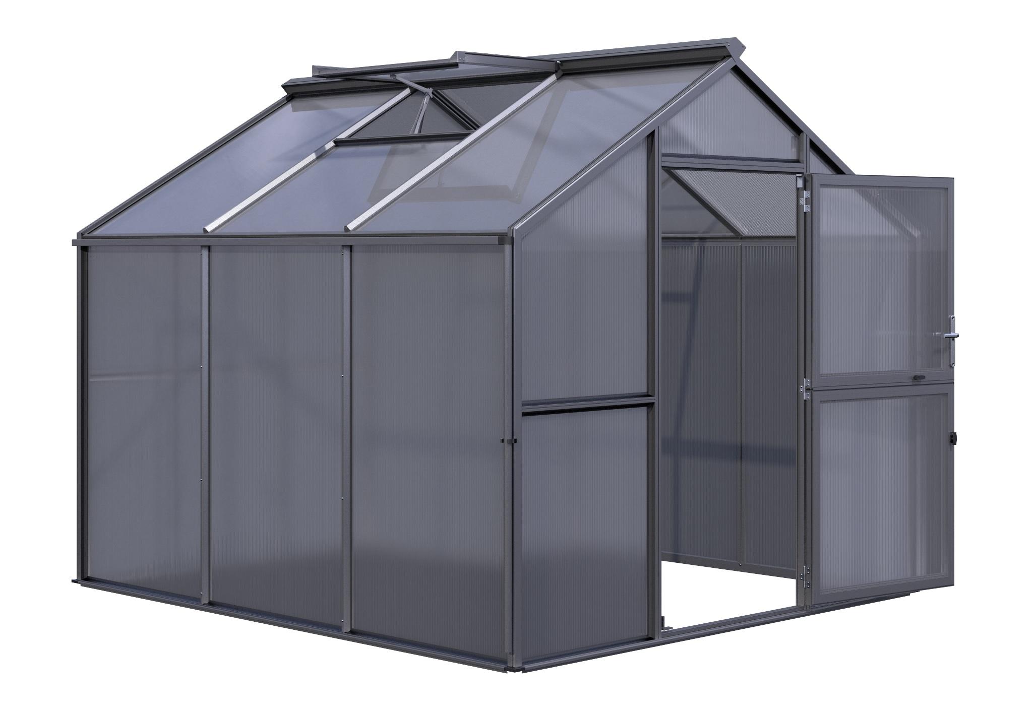Gewächshaus Novum III (HKP) - anthrazit-grau