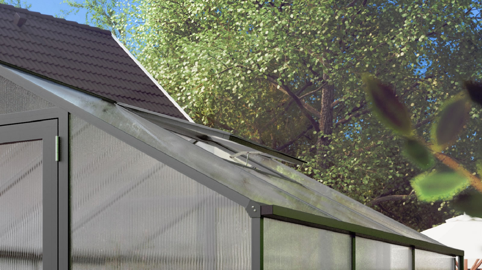 Zusätzliches Dachfenster für Rose / Orchidee / Lilie - anthrazit-grau