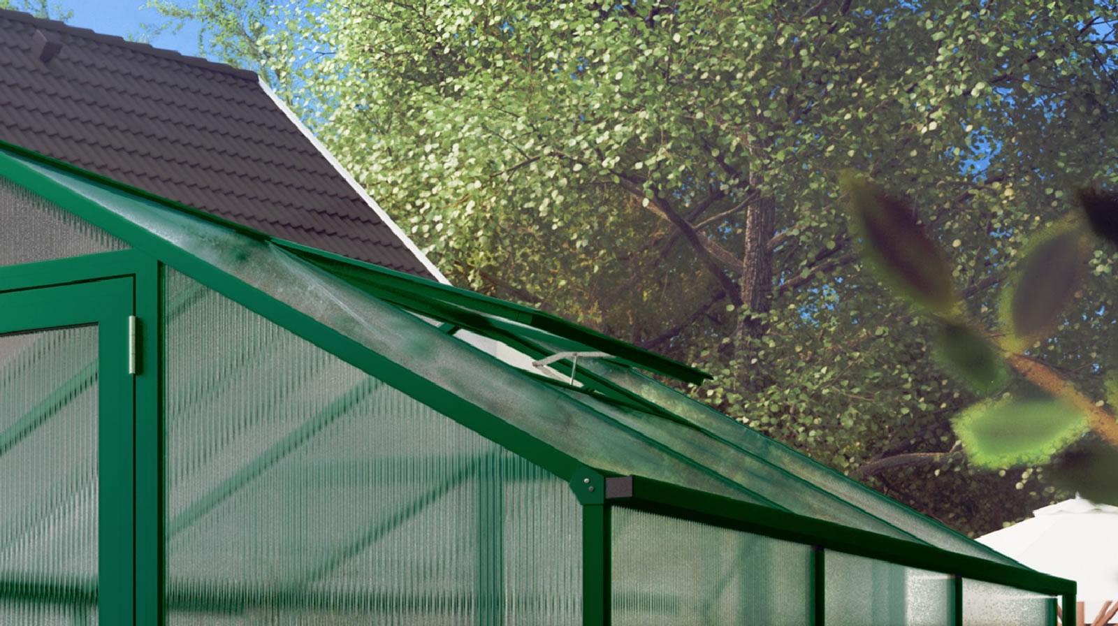 Zusätzliches Dachfenster für Rose / Orchidee / Lilie - moosgrün