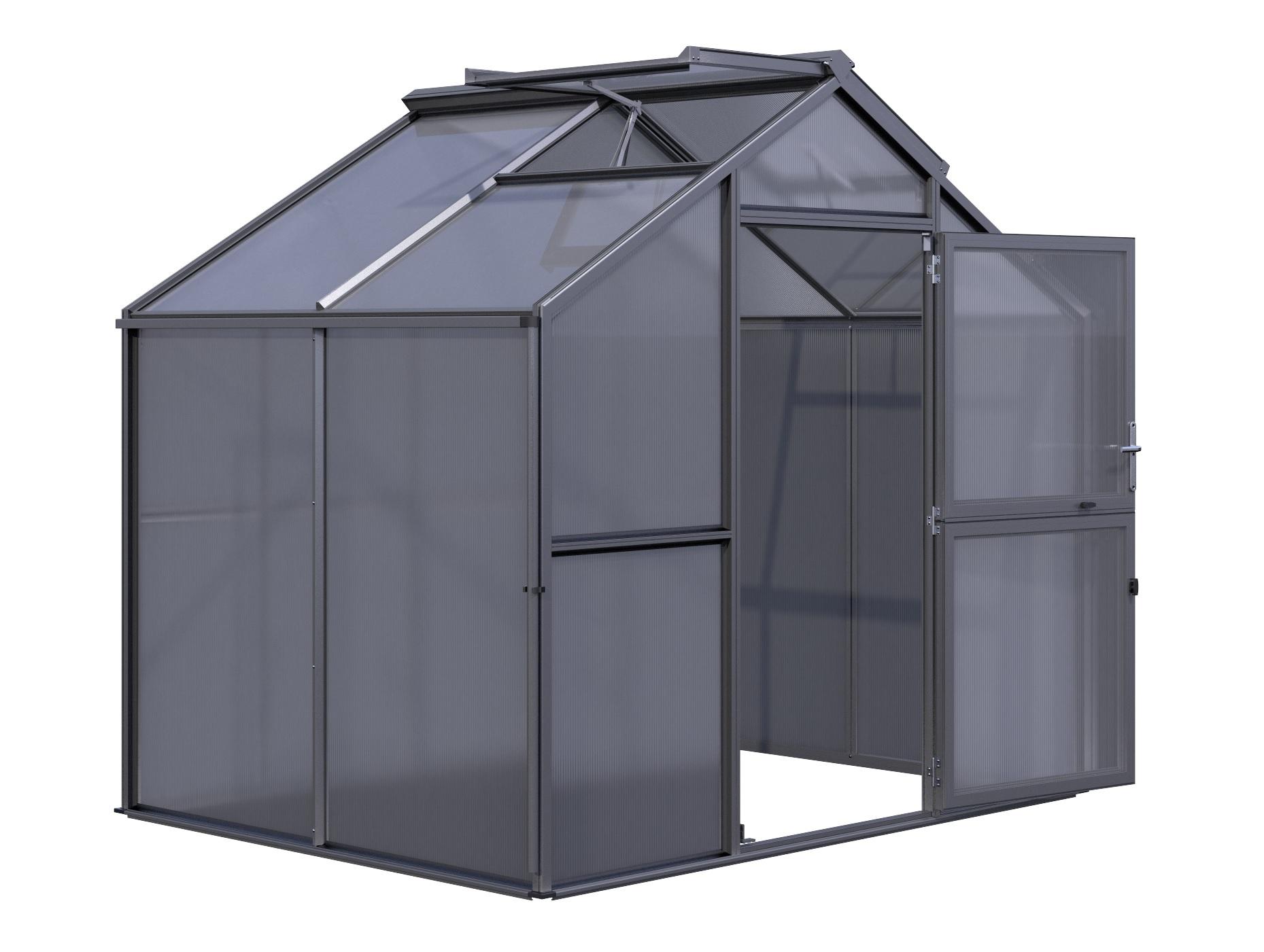 Gewächshaus Novum II (HKP) - anthrazit-grau