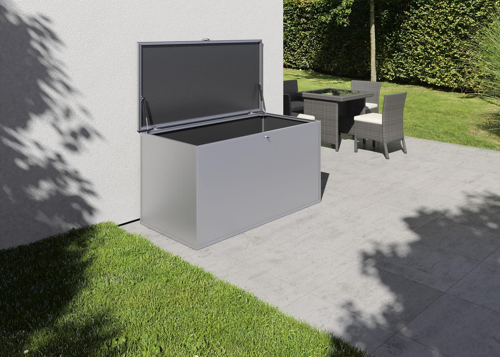 Gartenbox L - silber